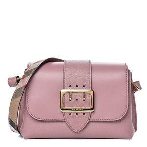 Burberry Buckle Leather Handbag